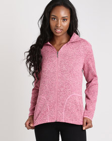 Jeep Jersey Knit Polar Fleece Tulip Pink