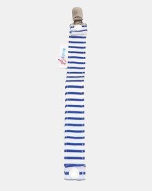 Moederliefde Dummy Clip Navy Sailor Stripes