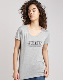 Jeep Core Scoop Neck T-Shirt Grey