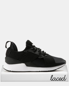 Puma Muse Satin EP Womens Black/White
