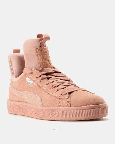 7f9b4c7e243 Puma Suede Fierce Womens Sneakers Peach Beige-Peach Beige