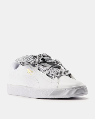 82fd2cb39d57 Puma Basket Heart Womens Sneakers White
