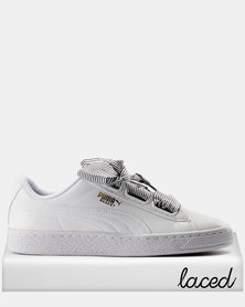 Puma Basket Heart Womens Sneakers White