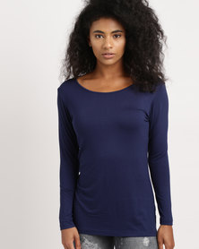 Utopia Longer Length Basic Tee Navy