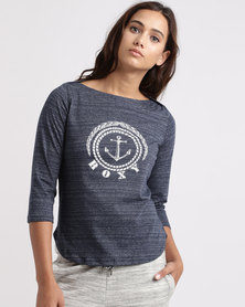 Roxy Soul Club T-Shirt Blue
