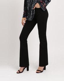 G Couture Ponte Bootleg Pants Black