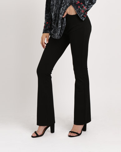 G Couture Ponte Bootleg Pants Black