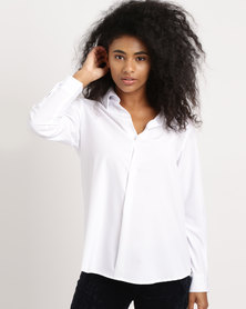 G Couture Collared Shirt White