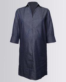 Me-A-Mama Lulu Shirt Dress Darker Chambray