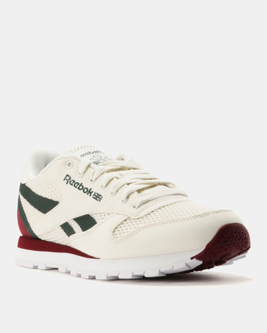 4a4284e39af Reebok Classic Leather MVS Sneakers Chalk Urban Maroon