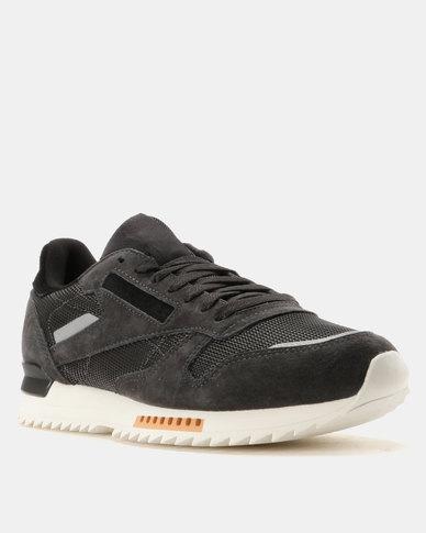 3aae131f76c Reebok Classic Leather Ripple Sneakers Coal Powder Grey