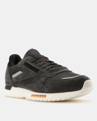 54f13269ba7838 Reebok Classic Leather Ripple Sneakers Coal Powder Grey