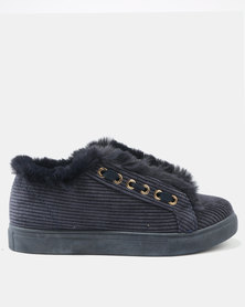 AWOL Low Cut Lace Up Sneakers Blue
