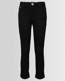 Soviet Boys Strikers Skinny Jeans Black
