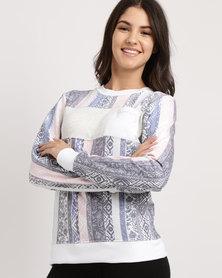 Rip Curl Core Bloom Crew Neck Sweater Blue/White