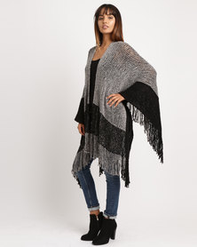 Joy Collectables Block Poncho Charcoal