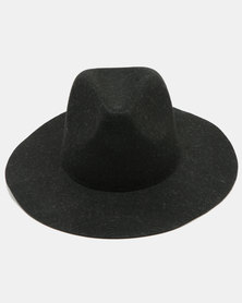 Joy Collectables Felt Panama Hat Black