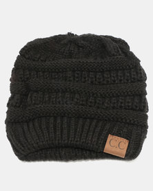 Joy Collectables Cable knit Beanie Black