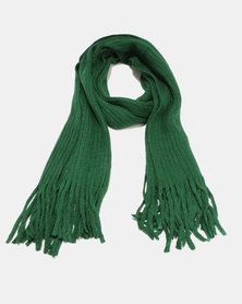 Joy Collectables Soft Chenille Scarf Green