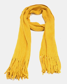 Joy Collectables Soft Chenille Scarf Mustard