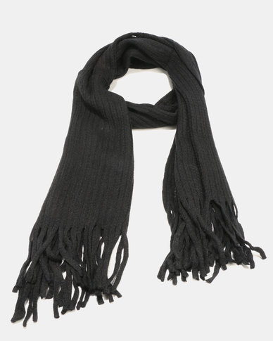 Joy Collectables Soft Chenille Scarf Black