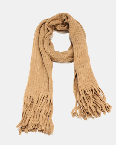 Joy Collectables Soft Chenille Scarf Tan