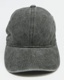 Joy Collectables Washed Out Peak Cap Grey