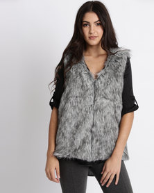 Legit Faux Fur Gilet Black