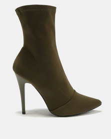 Scuba Pointed Stock Heeled Boot Fatigue