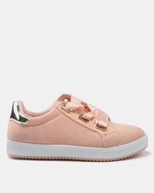 AWOL Girls Satin Sneakers Pink