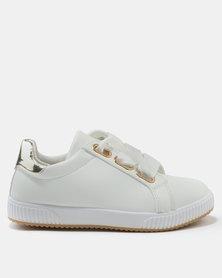 AWOL Girl PU Sneakers White