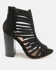 Utopia Caged Heels Black