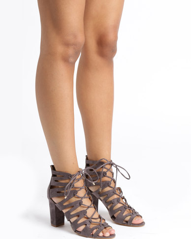 Utopia Utopia Lace Up Heels Grey 100% authentic cheap online release dates online e5yra