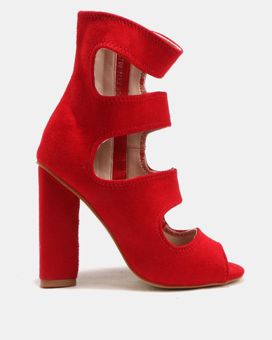 Utopia Utopia Strap Peep Toe Heels Red for sale the cheapest get to buy sale online 100% original online gGZ9G1