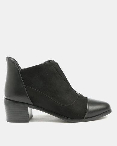 Utopia Toe Cap Gusset Boots Black