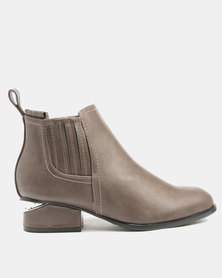 Utopia Gusset Ankle Boots Grey