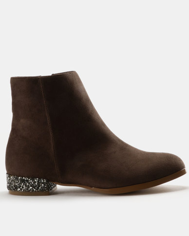 Utopia Utopia Encrusted Heel Boots Taupe cheap new arrival deals sale online 2014 unisex cheap price aEwya