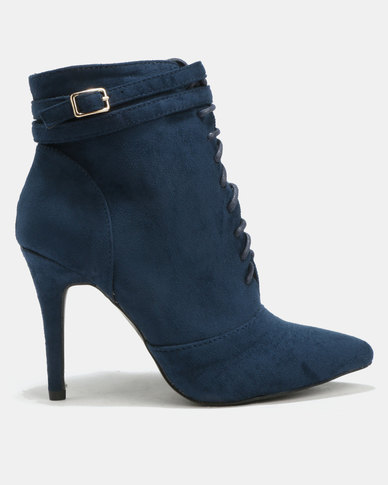 clearance 2014 newest discounts for sale Utopia Utopia Pointy Lace Up Boots Navy free shipping the cheapest outlet store locations outlet popular lk4sN42Cdt