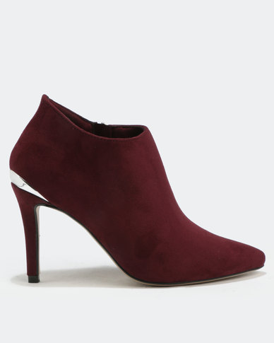 Utopia Pointy Shootie Boots Bordeaux Red