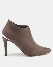 Utopia Pointy Shootie Boots Grey