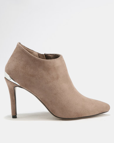 Utopia Pointy Shootie Boots Taupe
