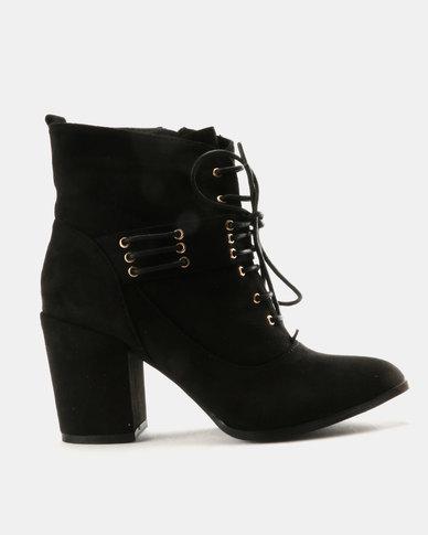 cheap price in China Utopia Utopia Tie Up Block Heels Black shop for sale xp5WOV