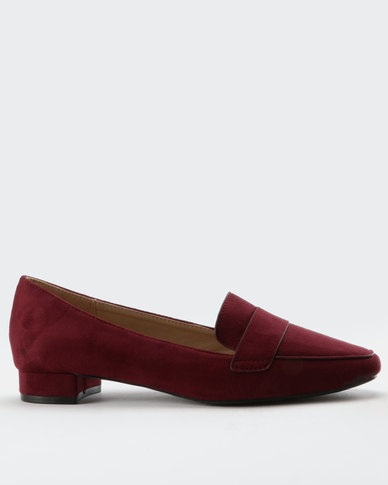 amazing price cheap price Gino Paoli Gino Paoli Smart Suede Loafers Burgundy buy cheap official site 100% original for sale discount YxhzT