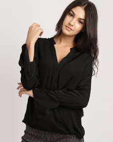 G Couture Cross Over Blouse Black