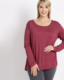 Utopia Plus Relaxed Fit Tee Berry