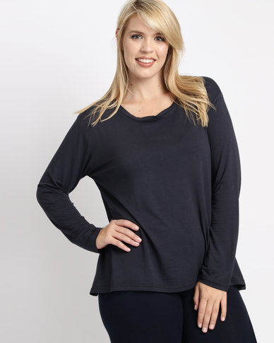 Utopia Plus Relaxed Fit Tee Charcoal Melange