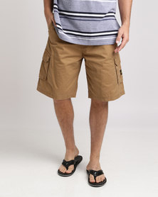 Jeep 28cm Belted Shorts Twine