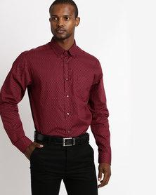 Fancy Design Shirt Burgundy
