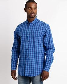 JCrew Multi Check Long Sleeve Shirt Blue