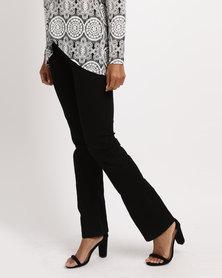 Queenspark Program Bootleg Woven Denim Jeans Black